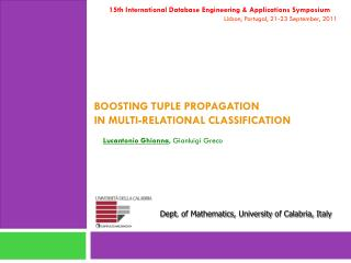 B oosting tuple propagation in multi- relational classification