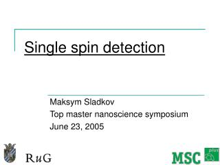 Single spin detection