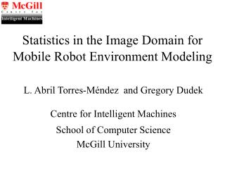Statistics in the Image Domain for Mobile Robot Environment Modeling