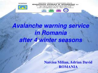 Avalanche warning service  in Romania  after 4 winter seasons