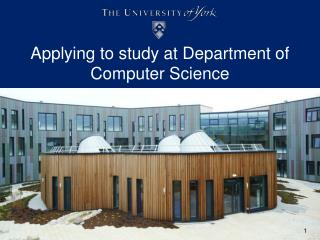 Applying to study at Department of Computer Science