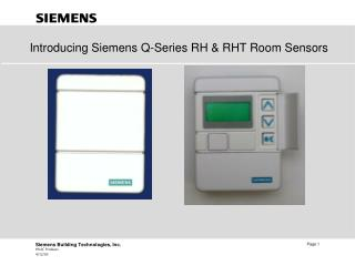Introducing Siemens Q-Series RH & RHT Room Sensors