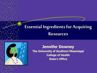 Essential Ingredients for Acquiring Resources
