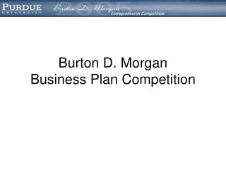 Burton D. Morgan  Business Plan Competition