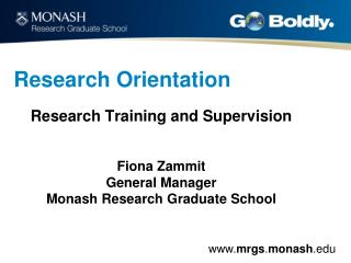 Research Orientation