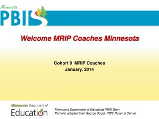 Welcome MRIP Coaches Minnesota