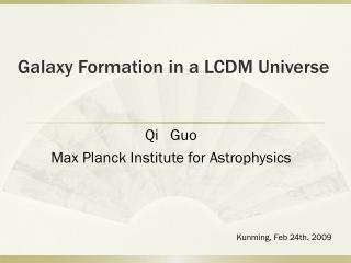 Galaxy Formation in a LCDM Universe