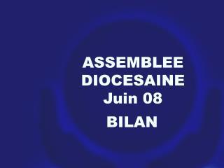 ASSEMBLEE DIOCESAINE Juin 08