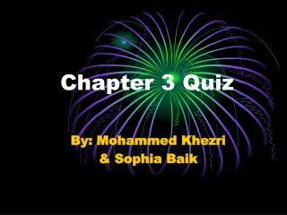 Chapter 3 Quiz