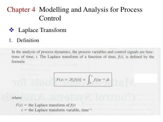 Laplace Transform Definition