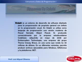 Prof. Luis Miguel Oliveros