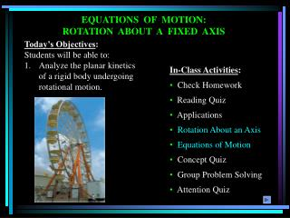 EQUATIONS  OF  MOTION:  ROTATION  ABOUT  A  FIXED  AXIS