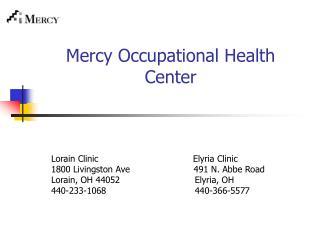 Mercy Occupational Health Center