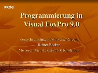 Programmierung in Visual FoxPro 9.0