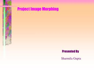 Project Image Morphing