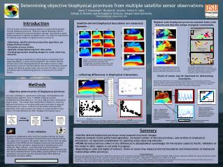 Determining objective biophysical provinces from multiple satellite sensor observations