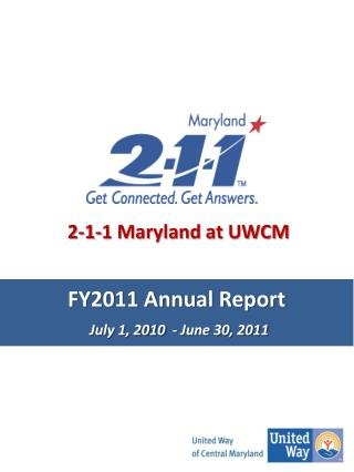 FY2011 Annual Report July 1, 2010  - June 30, 2011