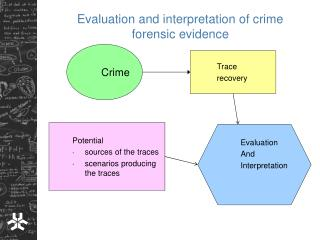 Evaluation and interpretation of crime forensic evidence
