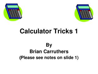 Calculator Tricks 1