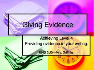 Giving Evidence