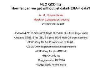 NLO QCD fits How far can we get without jet data/HERA-II data?