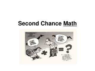Second Chance  Math