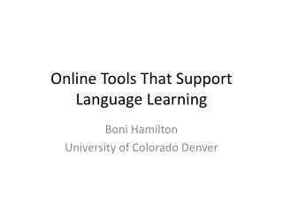 Online Tools That Support Language Learning