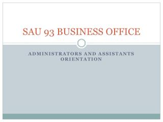 SAU 93 BUSINESS OFFICE