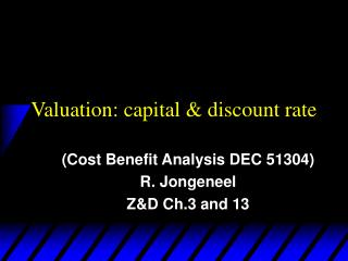 Valuation: capital & discount rate