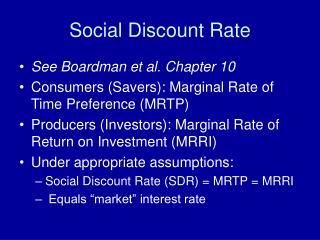Social Discount Rate