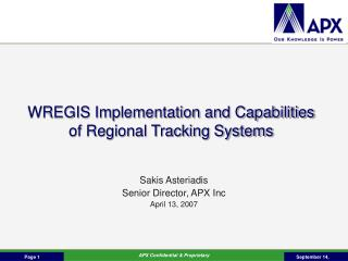 WREGIS Implementation and Capabilities of Regional Tracking Systems