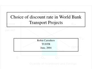 Choice of discount rate in World Bank Transport Projects