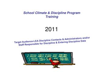 School Climate & Discipline Program  Training  2011