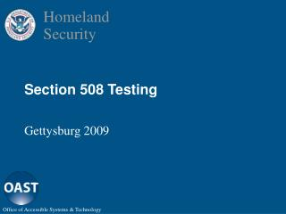 Section 508 Testing