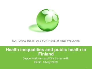 Health inequalities and public health in Finland