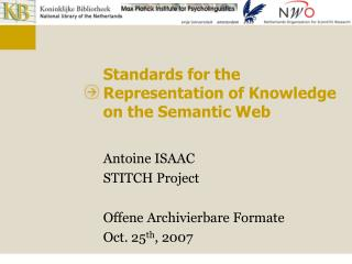 Standards for the Representation of Knowledge on the Semantic Web