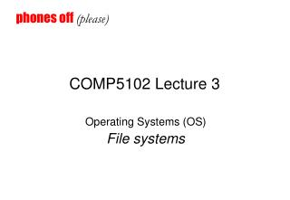COMP5102 Lecture 3