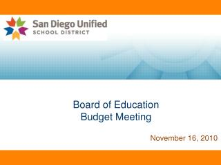 Board of Education Budget Meeting