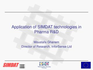 Application of SIMDAT technologies in Pharma R&D