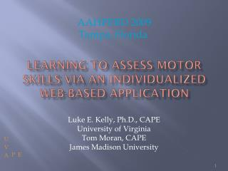 Learning to assess motor skills via an individualized web-based application
