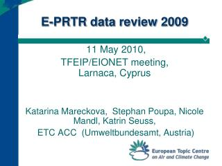 E-PRTR data review  2009