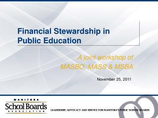 Financial Stewardship in  Public Education