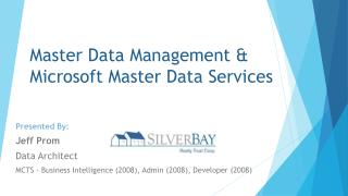 Master Data Management &  Microsoft Master Data Services