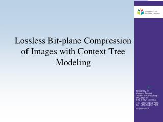 Lossless Bit-plane Compression of Images with Context Tree Modeling