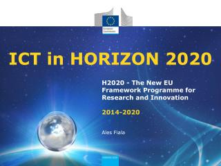 ICT in HORIZON 2020