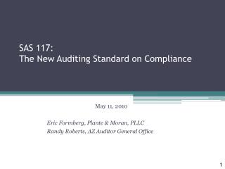 SAS 117: The New Auditing Standard on Compliance