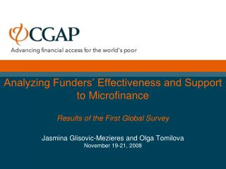 CGAP 2008 Funder Survey