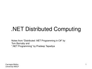 .NET Distributed Computing