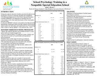 TRAINING Exposure to 'best practices' of school-based psychological services.