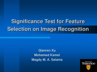 Significance Test for Feature Selection on Image Recognition